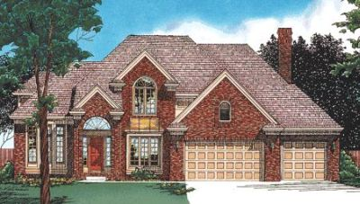 Traditional Style Home Design Plan: 10-383