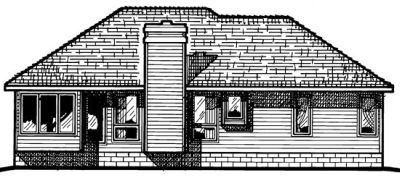 Rear Elevation Plan: 10-384