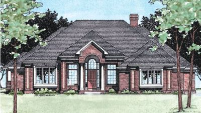 Traditional Style Home Design Plan: 10-386