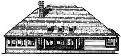 Rear Elevation Plan: 10-386