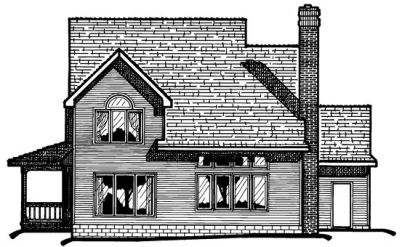 Rear Elevation Plan: 10-389