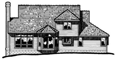 Rear Elevation Plan: 10-392