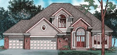 Traditional Style Home Design Plan: 10-406