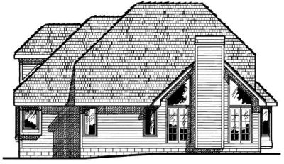 Rear Elevation Plan: 10-414