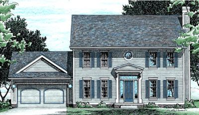 Early-american Style Floor Plans Plan: 10-426