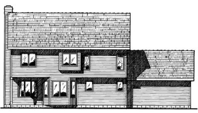 Rear Elevation Plan: 10-426
