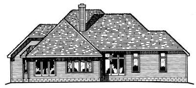 Rear Elevation Plan: 10-431