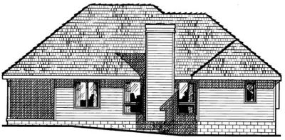 Rear Elevation Plan: 10-434