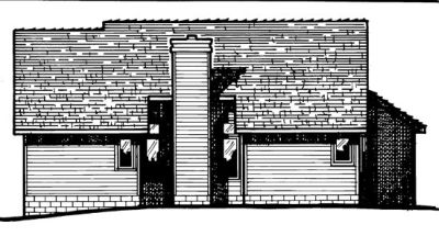 Rear Elevation Plan: 10-436