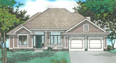 Traditional Style Home Design Plan: 10-439