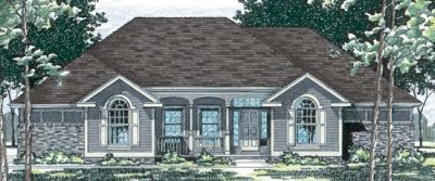Traditional Style Home Design Plan: 10-443