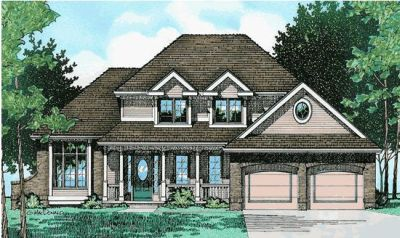 Traditional Style Home Design Plan: 10-444