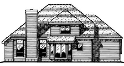 Rear Elevation Plan: 10-444
