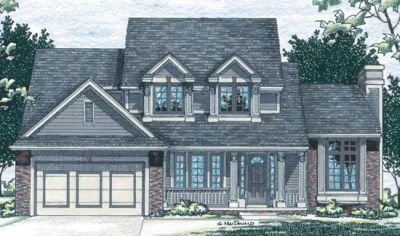 Traditional Style Home Design Plan: 10-445