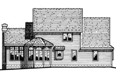 Rear Elevation Plan: 10-445
