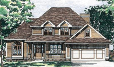 Traditional Style Home Design Plan: 10-448