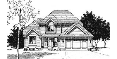 Traditional Style Home Design Plan: 10-451
