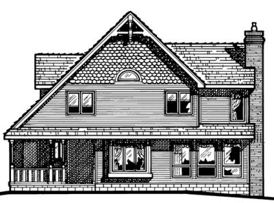 Rear Elevation Plan: 10-453