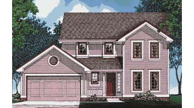 Traditional Style Home Design Plan: 10-454