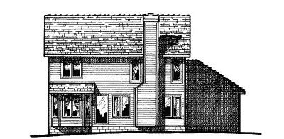 Rear Elevation Plan: 10-454