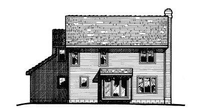 Rear Elevation Plan: 10-455