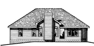 Rear Elevation Plan: 10-456