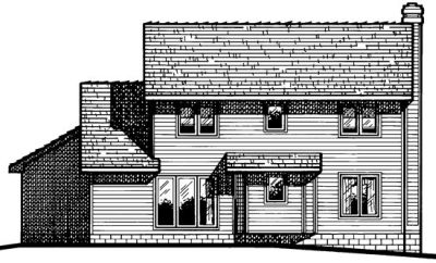 Rear Elevation Plan: 10-457