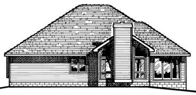 Rear Elevation Plan: 10-460