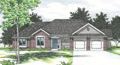 Traditional Style Home Design Plan: 10-462
