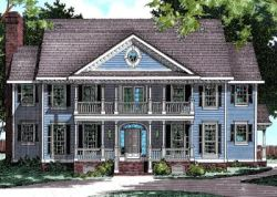 Southern Style Floor Plans Plan: 10-465