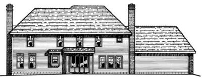 Rear Elevation Plan: 10-466