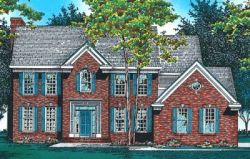 Early-American Style Home Design Plan: 10-470