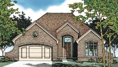 European Style Home Design Plan: 10-478