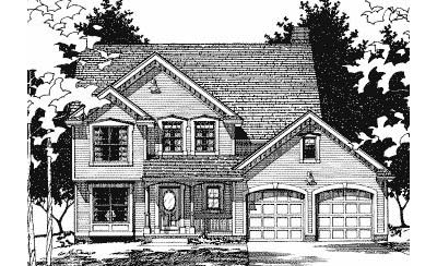 Traditional Style Home Design Plan: 10-479