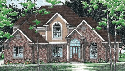 Traditional Style Home Design Plan: 10-481