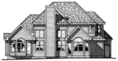 Rear Elevation Plan: 10-481
