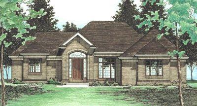European Style House Plans Plan: 10-486