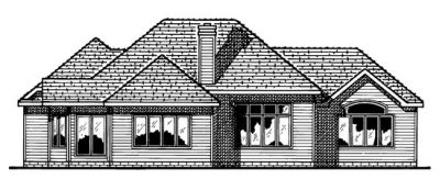 Rear Elevation Plan: 10-486