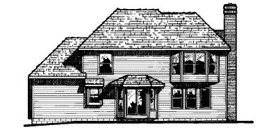 Rear Elevation Plan: 10-502