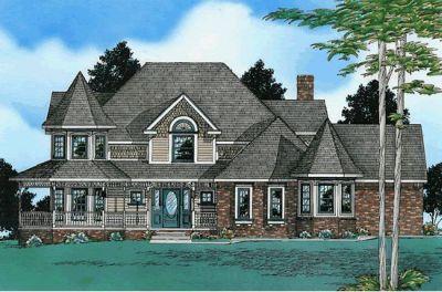 Victorian Style Home Design Plan: 10-506