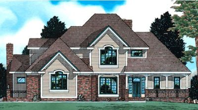 Traditional Style Home Design Plan: 10-516
