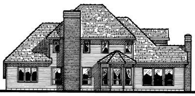 Rear Elevation Plan: 10-516