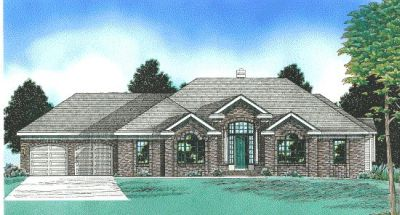Traditional Style Home Design Plan: 10-523