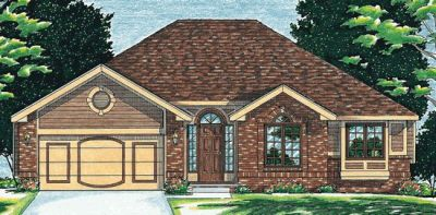 Traditional Style Home Design Plan: 10-529