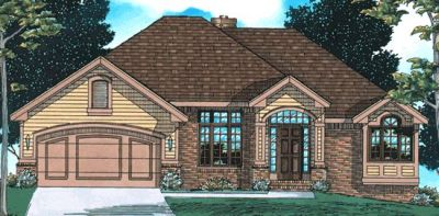 Traditional Style Home Design Plan: 10-536