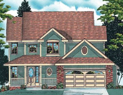 Country Style Home Design Plan: 10-537