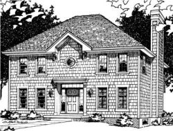 Early-American Style House Plans Plan: 10-543