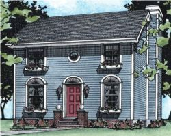 Colonial Style House Plans Plan: 10-545