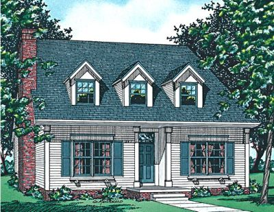 Early-american Style House Plans Plan: 10-551