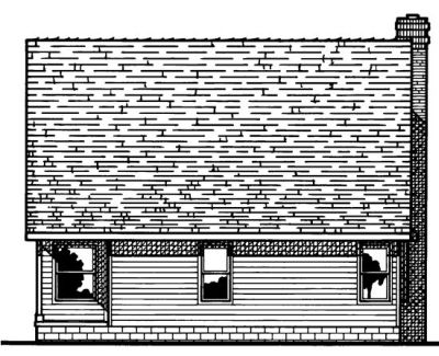 Rear Elevation Plan: 10-551
